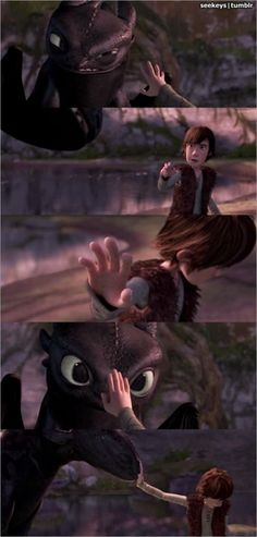 touching moment in How to Train Your Dragon - gets me every time.