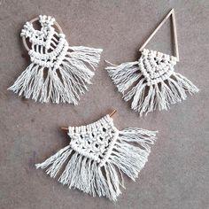 315 m, paksuus 1 mm, vaalea natural, ohut laatu Crochet Earrings