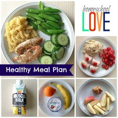 Healthy Meal Plan with Vegetarian and Kid options too. Focuses on 5 or 6 small meals a day. Easy and healthy! Healthy Low Calorie Meals, Healthy Food Options, Heart Healthy Recipes, Healthy Meal Prep, Healthy Snacks, Healthy Eating, 6 Meals A Day, Small Meals, Eating Plans