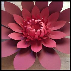 Giant Paper Flower - Wall, Photography Backdrop, Wedding, Reception Decoration, Party or Corporate Event DIY - http://centophobe.com/giant-paper-flower-wall-photography-backdrop-wedding-reception-decoration-party-or-corporate-event-diy/ -