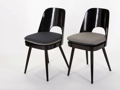 Vintage Dining Chairs by Oswald Haerdtl for Ton, n.p. Bystrice, Set of Four 4