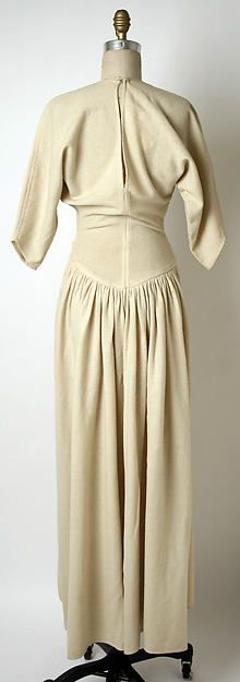 Claire McCardell Wedding ensemble, 1941...very plain for a wartime winter wedding? wool and fur, although I see no fur
