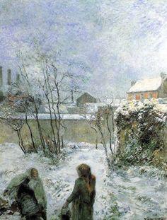 Paul Gauguin - Post Impressionism - Effet de neige - Snow - 1883