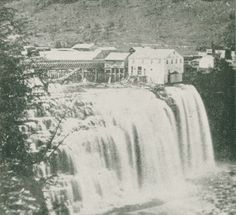 Middle Falls, photo taken in 1860 showing the area as seen by William Pryor Letchworth for the first time. Letchworth State Park, Watkins Glen, State Parks, North America, Grand Canyon, Waterfall, Beautiful Places, Middle, York