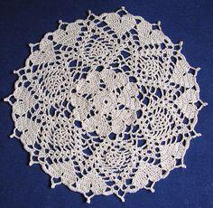 Hearts Doily, crochet pattern free on ravelry.