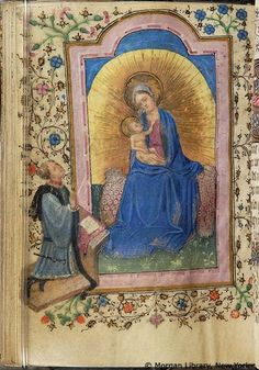 Virgin Mary & Christ Child   Book of Hours   Belgium, perhaps Bruges   ca. 1420   The Morgan Library & Museum