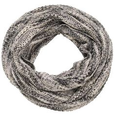 maurices Infinity Scarf In Marled Knit In Black ($18) ❤ liked on Polyvore featuring accessories, scarves, black, knit shawl, infinity loop scarves, knit infinity scarf, black shawl and maurices
