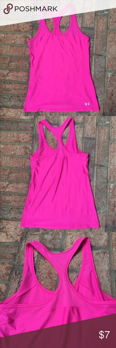 Under Amour Pink Tank Dri-Fit Under Armour pink tank top! Pre-loved in pristine condition! Tag cut out for personal comfort! Feel free to ask any questions! Under Armour Tops Tank Tops