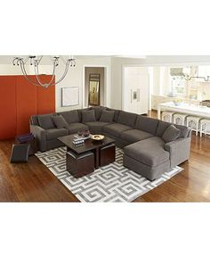 Radley Fabric Sectional Living Room Furniture Sets Pieces Macy S Couch And Rug Combo Table For Bat