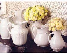 I love white pitchers