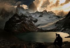 Mount Fitz Roy at Lago De Los Tres, South Argentina Land of the Dead by Alexandre-Deschaumes Landscape Photos, Landscape Photography, Nature Photography, Mountain Photography, Machu Picchu, What A Wonderful World, Beautiful World, Simply Beautiful, Beautiful Things