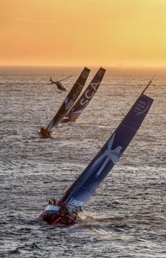 Great image captured from Volvo Ocean Race. #PhotoOfTheDay steal.
