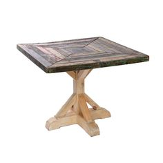 "cool reclaimed wood table - 38"" square"