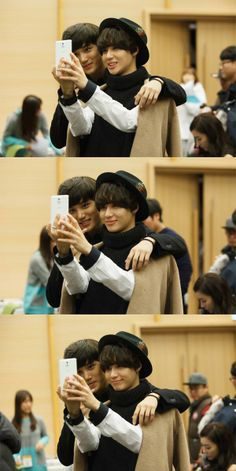 http://pbs.twimg.com/media/BcZaLGMCAAAvDYF.jpg 131226 SHINee Taemin & Exo Kai - SBS Gayo Daejeon Music video shooting
