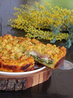 POTATO cake recipe with zucchini cheese ham - http://blog.giallozafferano.it/inventaricette/sbriciolata-di-patate-ricetta/