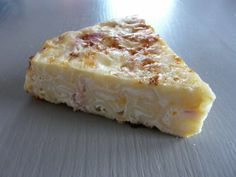 On dine chez Nanou | Gâteau de pâtes jambon /cheddar |  Cette recette vient de Weight Watcher  , j'étais très intriguée par la cuisson des pâtes dans l...