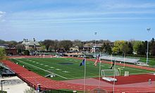 Athletic Field for Grosse Pointe South High School  I have many happy memories of the football games played here.