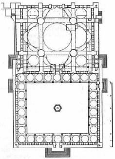 Blue Mosque Plan Islamic Architecture, Architecture Drawings, Blue Mosque, Plan Drawing, Fall Wallpaper, Ottoman, Autocad, Islamic Art, Icon Design
