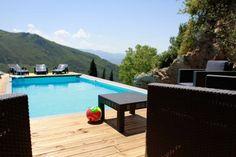 Corsica villa with pool.