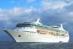 Vision of the Seas is the first cruise ship my husband will be on.  Small ship - but no long lines!!!