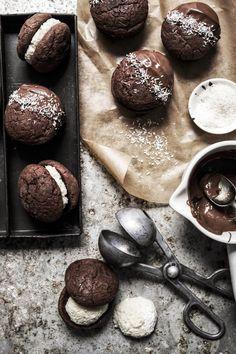 bounty filled brownie cookies