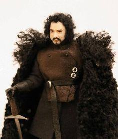 Jon Snow  Artisan Hand Sculpted 1/12th Scale Character Doll