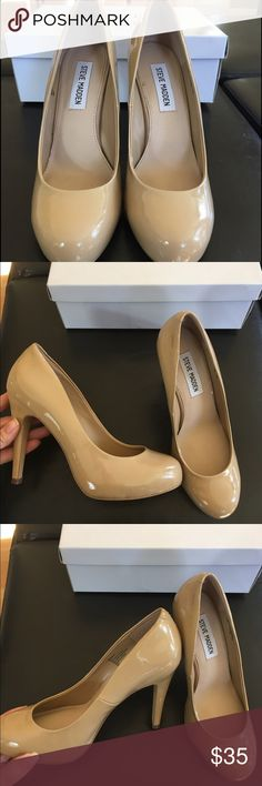 Nude Steve Madden Heels Nude Steve Madden heels, size 7. Only worn once! Box included. Steve Madden Shoes Heels