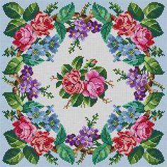Floral Wreath Susan Treglown mesh: dimension: x Cross Stitch Pillow, Cute Cross Stitch, Cross Stitch Rose, Cross Stitch Flowers, Cross Stitch Kits, Cross Stitch Charts, Cross Stitch Designs, Cross Stitch Patterns, Diy Embroidery