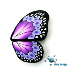 Polymer clay purple BUTTERFLY WING canes   -by Mars. $14.00, via Etsy.