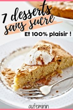 Dessert sans sucre : 10 recettes de desserts sans sucre ajouté If you're paying attention to your figure or trying to cut down on sugar, here are 7 dessert recipes with no added sugar or sweeteners. Easy Healthy Recipes, Healthy Desserts, Easy Desserts, Gourmet Recipes, Easy Meals, Dessert Recipes, Sugar Free Desserts, Sugar Free Recipes, Fall Cakes