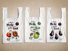 Cheil Germany unveil compostable carrier bags that come with fruit and vegetable. Cheil Germany unveil compostable carrier bags that come with fruit and vegetable seeds for Germany's Edeka. Plastic Bag Packaging, Smart Packaging, Food Packaging Design, Biodegradable Packaging, Biodegradable Products, Biodegradable Plastic, Plastic Bag Design, Vegetable Packaging, Shopping Bag Design