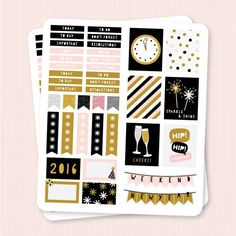 FREE Printable Planner : New Year Planner Stickers