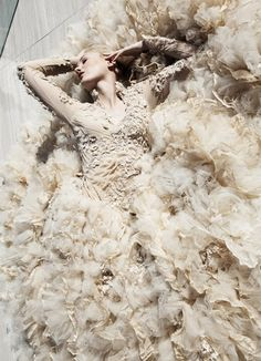 Beautiful & frothy Brooke Boneli by Alex & Steph for Bello Magazine Purple Home, Editorial Fashion, Fashion Models, High Fashion, Beautiful Dresses, Wedding Gowns, Bridal Dresses, Fashion Photography, Goth