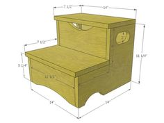 ~~pinned from site directly~~ . . . Woodworking Project: How to Build a Storage Step Stool for Kids   DIY Carpentry & Woodworking - Crown Molding, Beadboard, Framing, Tools   DIY