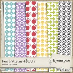 Create your own digital scrapbooking papers and embellishments with these transparent PNG patterns. Designed to especially to mix and match with Pattern Bash and Embosslets packages. Great for any type of layout or kit! <br /> <br />Package contains 6 300 dpi patterns that work great in any themed kit - templates all 12x12 inches in PNG format.