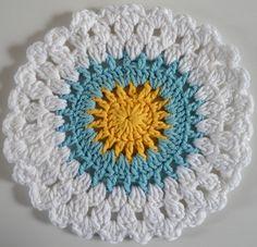 Winter Sunrise crochet dishcloth pattern from bestfreecrochet.com.