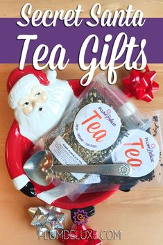 Secret Santa Tea Gifts: 5 Thoughtful Secret Santa Gifts for Tea Lovers Tea Gift Baskets, Christmas Gift Baskets, Cute Christmas Gifts, Secret Pal Gifts, Tea Gifts, Appreciation Gifts, Small Gifts, Teacher Gifts, Birthday Gifts
