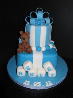 christening bear  Cake by dandkcreativecakes