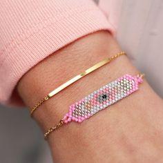 My Jewellery - Armband Goud Fine Beads Pink - Luxedy - Mooie combinatie met roos en goud! Keep it simple!