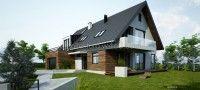 dom 04 - projekt domu jednorodzinnego - projekt w fazie realizacji