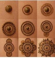 37 Ideas For Tattoo Mandala Design Inspiration Henna Mehndi Easy Mehndi Designs, Henna Tattoo Designs, Mehandi Designs, Round Mehndi Design, Finger Henna Designs, Indian Mehndi Designs, Mehndi Designs For Girls, Mehndi Designs For Beginners, Mehndi Design Pictures