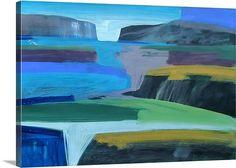 """""""Coast"""" (acrylic on card) Blue Wall Art by Paul Powis via @greatbigcanvas at GreatBIGCanvas.com."""