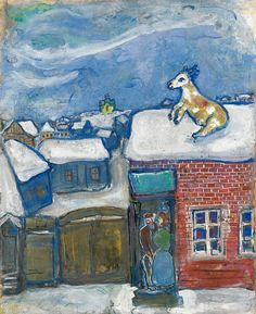 A village in winter ~ Marc Chagall, 1930