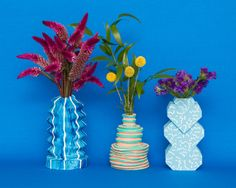 3-D printed vases by EyeBodega on sightunseen.com