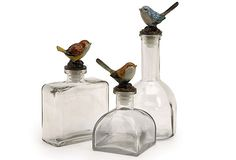 S/3 Glass Bottles, Clear on OneKingsLane.com