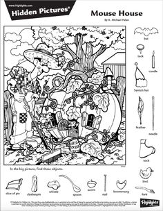 (2017-06) Find 16 detaljer Hidden Object Puzzles, Hidden Picture Puzzles, Hidden Objects, Color Activities, Preschool Activities, Colouring Pages, Coloring Books, Hidden Pictures Printables, Highlights Hidden Pictures
