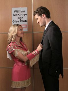 April and Will - Kristin Chenoweth's April Rhodes has popped up in three episodes of the show, playing an endearing alcoholic with the eyes for her childhood friend, Will Schuester. The boozy blonde eventually gifted McKinley with an auditorium when Sue Sylvester forced the glee club from its rehearsal space.