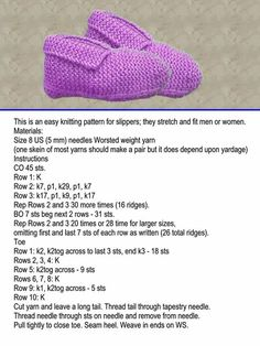 Just sharing ( knitting ) sl Knit Slippers Free Pattern, Baby Booties Knitting Pattern, Knitted Booties, Baby Hats Knitting, Knitted Slippers, Knitting Socks, Free Knitting, Loom Knitting, Sorel Slippers