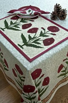 Out of India Textiles Hand Printed 100% Cotton Table Cloths, Out of India