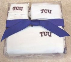 Celebrate a new addition to the TCU Horned Frog family with our head to toe Homecoming gift set by Future Tailgater, $29.99